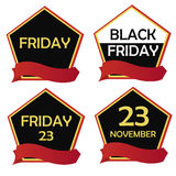 Four icons for black friday Royalty Free Stock Photography