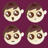 Four icons of facial expressions Royalty Free Stock Photos