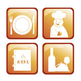Four icons for menu Royalty Free Stock Images