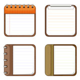Four icons of notepads Stock Photography