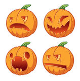 Four icons pumpkins for Halloween Stock Images