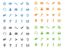 Four icons set Royalty Free Stock Images