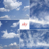 Four image of blue sky, heaven. Royalty Free Stock Images