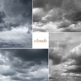 Four image of cloudy sky. Royalty Free Stock Photo