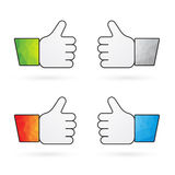 Four indicators recommend thumbs up Stock Image