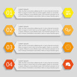 Four info-graphics templates of banners. Four info-graphics banners for your design Stock Photography