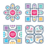 Four Infographic business concept. Four vector schemes with icons. Stock Photo