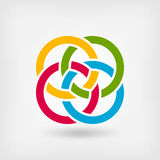 Four interlocked rings Royalty Free Stock Images