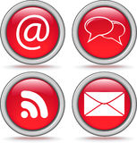 Four internet icons Royalty Free Stock Images