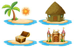 Four islands stock illustration