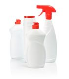 Four Isolated Kitchen Bottles Royalty Free Stock Images