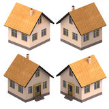 Four isometric views on new real estate project Royalty Free Stock Photography