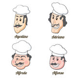 Four Italian cooks Royalty Free Stock Photography