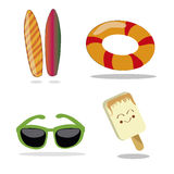 Four items for summer Stock Images