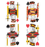 Four Jacks no card Royalty Free Stock Photos