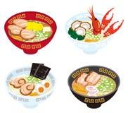 Four Japanese Ramen Noodles Stock Photography