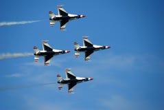 Four jet airplanes Stock Photo