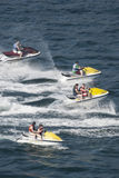 Four jetskis in Acapulco bay Royalty Free Stock Photography
