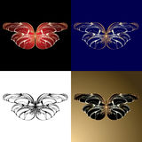 Four Jewelery Butterflies Stock Photo