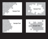 Four jigsaw designs Royalty Free Stock Image
