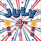 Four juli Stock Foto
