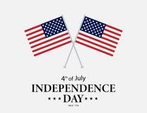 Four juli De Onafhankelijkheidsdag van de V vierde van Juli-groetkaart vector illustratie