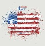 Four juli Van Achtergrond grunge vector Grungedruk voor t-shirt Abstracte vuiltextuur als achtergrond Grungebanner met Stock Foto's