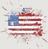 Four juli Van Achtergrond grunge vector Grungedruk voor t-shirt Abstracte vuiltextuur als achtergrond Grungebanner met Royalty-vrije Stock Afbeelding