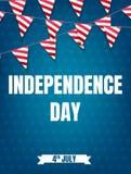 Four juli Van de de Onafhankelijkheidsdag van de V.S. de partijaffiche vierde van Juli-de banner van de vakantiegebeurtenis Stock Afbeeldingen