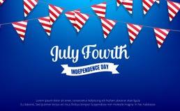 Four juli vierde van Juli-vakantiebanner De banner van de de Onafhankelijkheidsdag van de V.S. voor verkoop, korting, reclame, We Royalty-vrije Stock Afbeeldingen