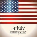 Four juli-vlag Stock Afbeelding