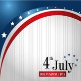 Four juli-vlag Royalty-vrije Stock Afbeelding