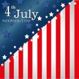 Four juli-vlag Stock Foto's