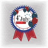 Four july design. Four july frame over lines background vector illustration Stock Photo