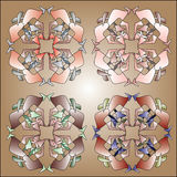 four Kaleidoscope circle Royalty Free Stock Photo