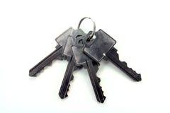 Four keys. Bunch keys royalty free stock image