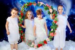 Four kids Stock Photos