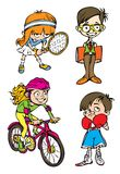Four kids character Stock Photo