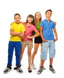 Four kids in full height Royalty Free Stock Images