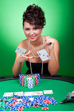 Four of a kind - aces against kings Stock Images