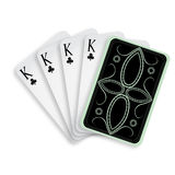 Four of a kind clubs kings Royalty Free Stock Images