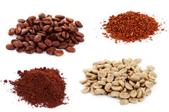 Four kind of coffee Royalty Free Stock Photo