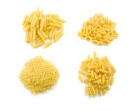 Four kind of macaroni Royalty Free Stock Photos