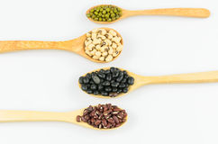 Four kind of natural grains Royalty Free Stock Images