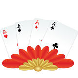 Four of a kind poker hand Stock Images