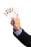 Four of a kind poker hand Royalty Free Stock Photography
