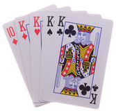 Four-of-a-Kind.Poker Royalty Free Stock Photography