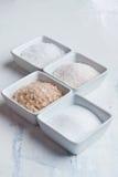 Four kind of salt Royalty Free Stock Images