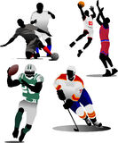 Four kinds of team sport game Royalty Free Stock Photos