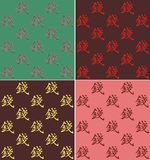 four kinds of vector backgrounds with Chinese character Money Royalty Free Stock Photography